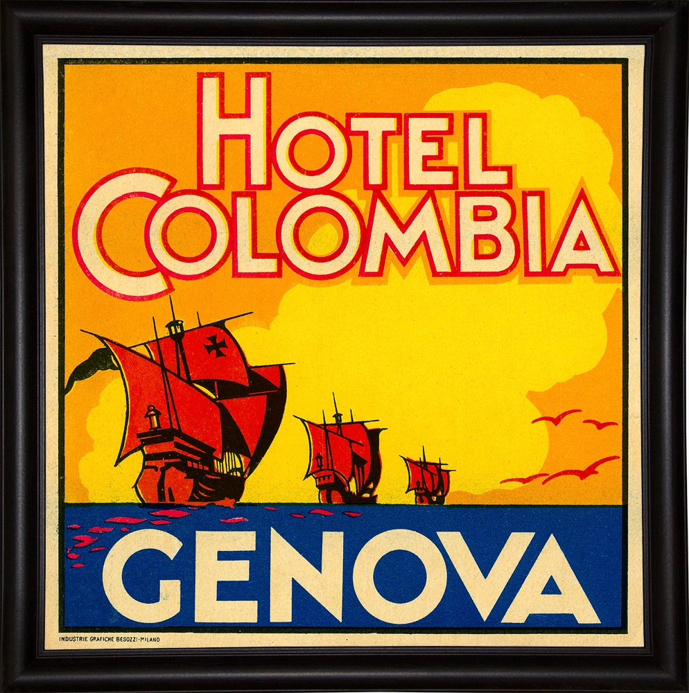 Hotel Colombia, Genova-PRIPUB129036 Print 17.75''x17.75'' by Print Collection in a Bistro Expresso
