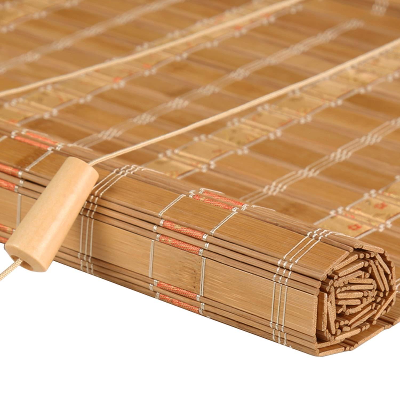 ローリングシャッター - 竹製フィルターブラインドローマンブラインドサンシェードプライバシー防水防曇サンシェード (色 : D, サイズ さいず : 110*220cm)   B07Q1H7DQ6