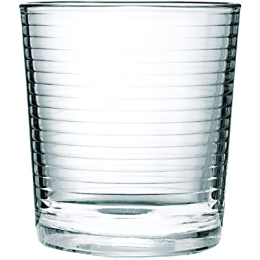 Circleware 44108 Theory Heavy Base Whiskey Glass, Set of 4, Kitchen Entertainment Drinking Glassware for Water, Juice, Beer and Bar Liquor Dining Decor Beverage Cups Gifts, 12.5 oz, Clear