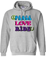 Sports Katz Womens 'Peace Love' RIDE Hoodie