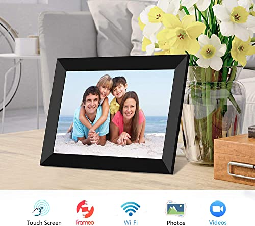 FRAMEO Digital Picture Frame WiFi 8 inch IPS Touch Screen HD Display
