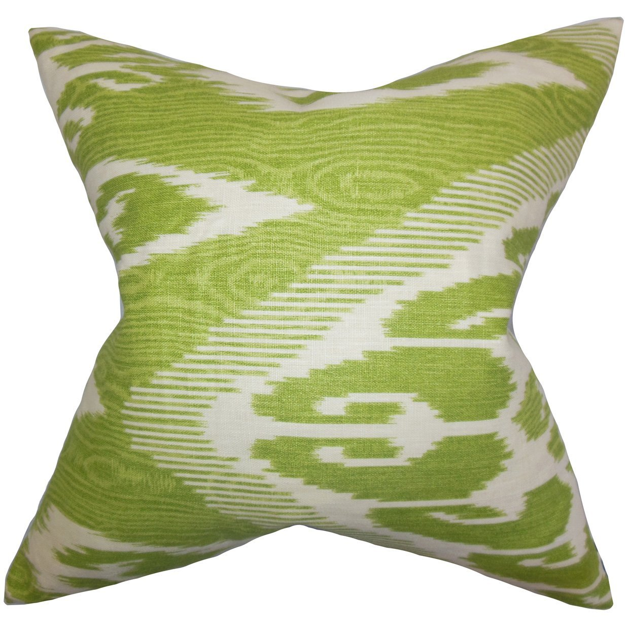 The Pillow Collection Fernande Ikat Bedding Sham Green Standard//20 x 26,
