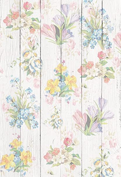 Amazon Com Aofoto 3x5ft Sweet Flowers On Vintage Wood Board