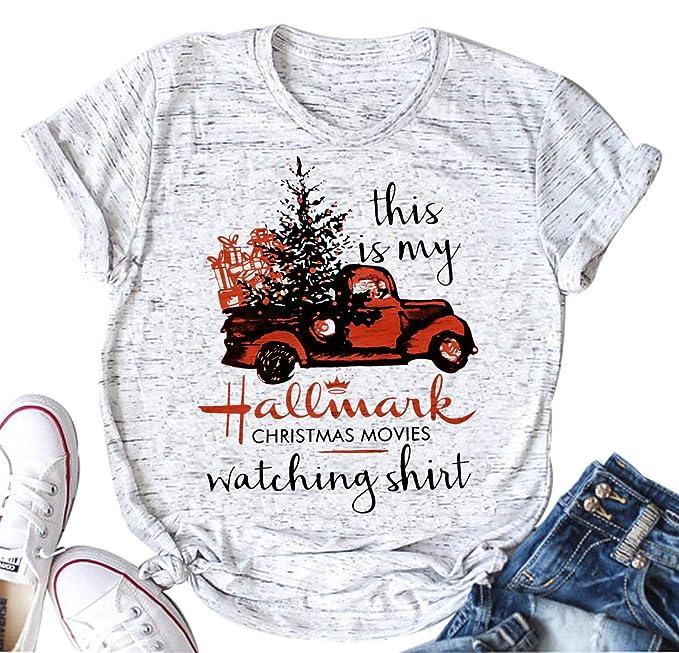 Hallmark Christmas Shirt.This Is My Hallmark Christmas Movie Watching Shirt Women S Funny Holiday T Shirt