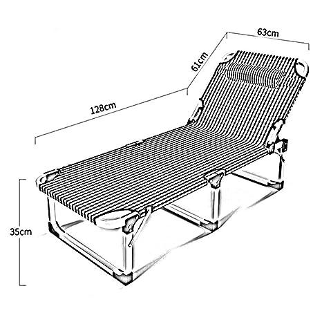 MJK Sillas reclinables plegables, cama plegable ...