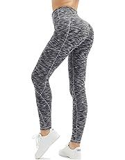 ALONG FIT Yoga Pants with Pockets, High-Waist/Mid-Waist Yoga Pants Women Tummy Control Sports Leggings Gym Tights with Hidden Pocket Yoga Capris Yoga Shorts