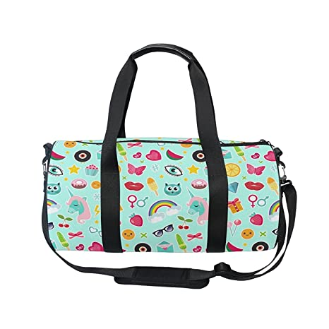 Image Unavailable. Image not available for. Color  OuLian Gym Bag Fashion  Comic Unicorn Rainbow Emoji ... c30902d466880
