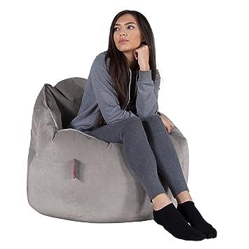 Lounge Pug®, Pouf Chaise Design, Pouf Poire Super, Velours Argent ...