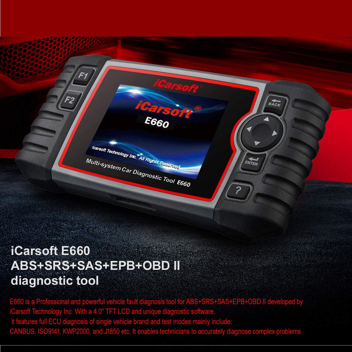 iCarsoft E660 ABS+SRS+SAS+EPB+OBD II Diagnostic Tool by iCarsoft (Image #7)