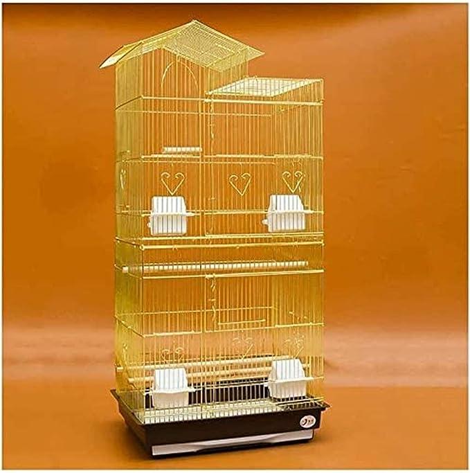 Jaula dpájaros duradera y ecológica, Loro jaula pájaros jaula de pájaros grande 100 cm top techo grande de metal en la jaula de pájaro de metal loro Budgie Lovebird Finch Pet Pájaro jaula con escalera