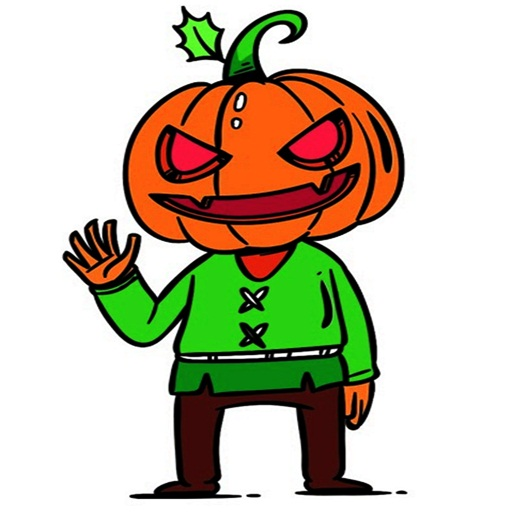 Halloween Coloring Art by Number -