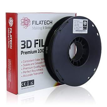 Filatech - Filamento PLA de impresión 3D, 1,75 mm +/- 0,03 mm ...