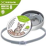 Iseebiz Collar Antiparasitario Gatos/Perros para Contrar los parásitos Pulgas, Garrapatas, Piojos y