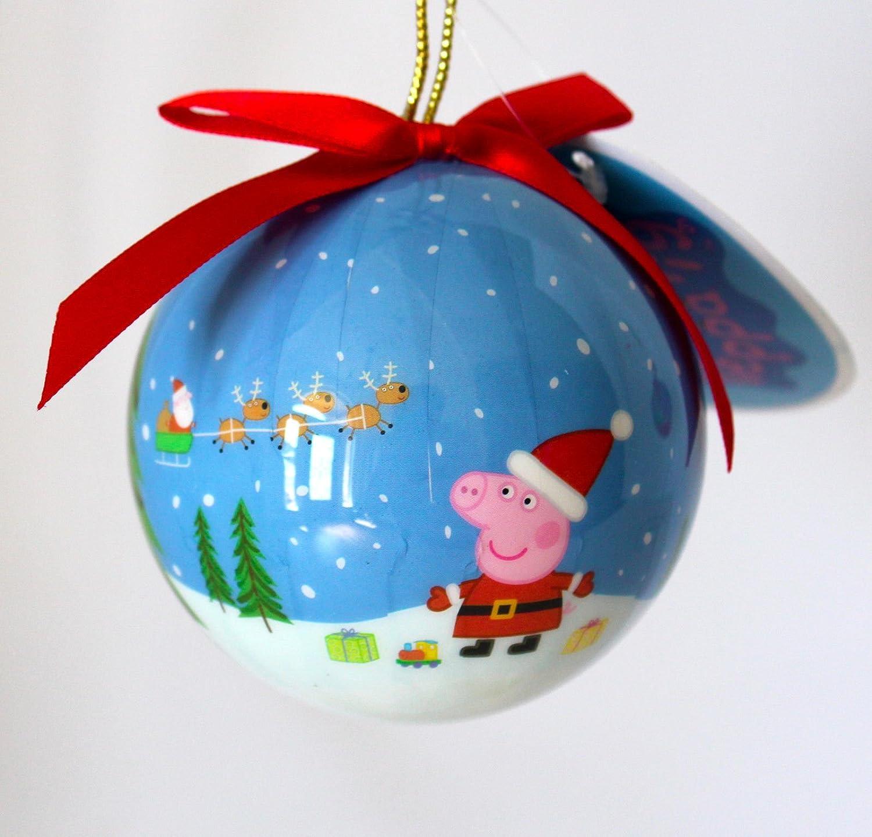 Peppa Pig – Bolas de árbol de Navidad, Blue Snow Peppa Ornament ...