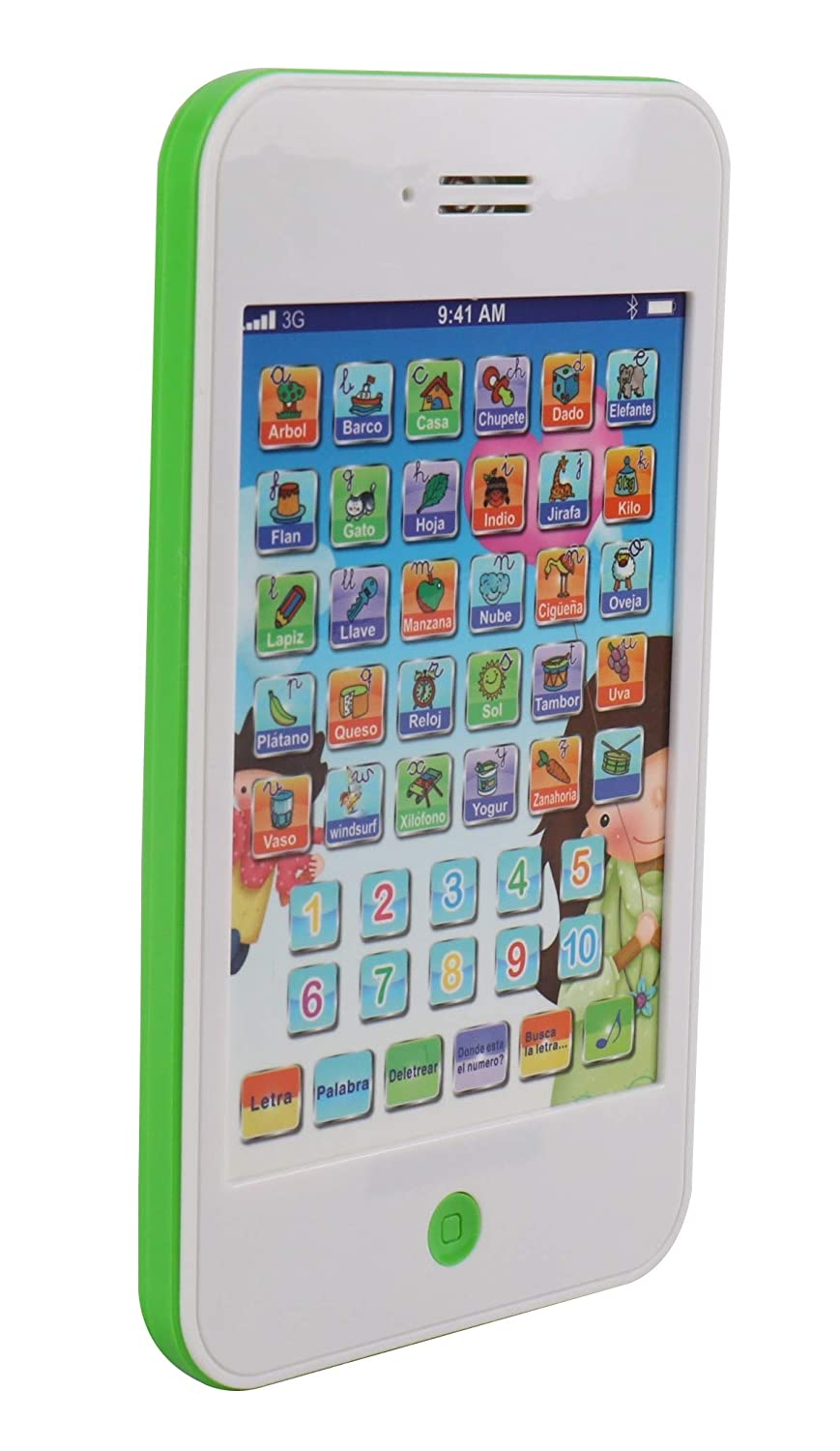 Pasaca Toys Kids Learning Pad Spanish Fun Phone with 6 Learning Game, Touch Tablet, Learning...