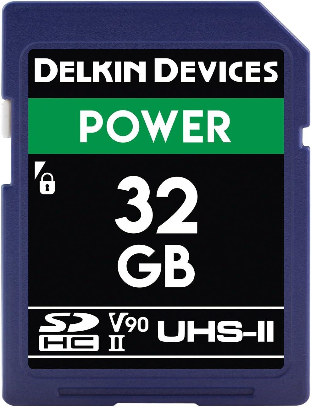Delkin Devices 64GB Power SDXC UHS-II Memory Card U3//V90