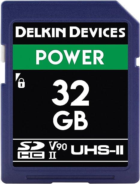 Genuine Delkin 64GB SDXC Clase 10 ultra alta velocidad de la tarjeta de memoria Secure Digital.