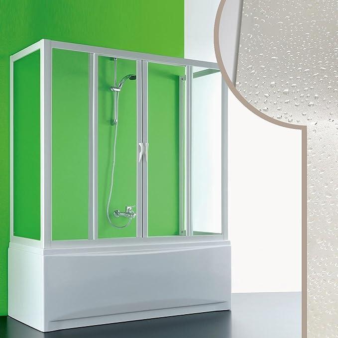 Forte Mampara de bañera 3 Lados 70x170x70 CM de Acrílico Mod. Plutone 2 con Apertura Central: Amazon.es: Hogar