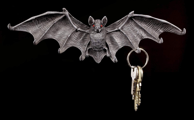 Figuren-Shop.de Pipistrello Bordo Chiave con Occhi Rossi Gotico