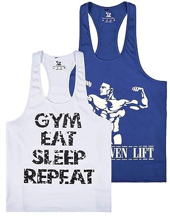 382710e2d25fa Amazon.com  Pro Men s Gym Workout Bodybuilding Stringer Tank Top ...