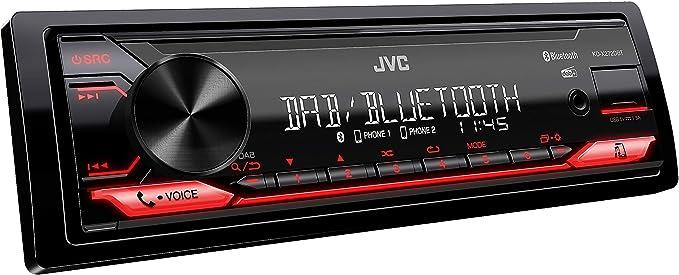 Jvc Kd X272dbt Usb Autoradio Mit Dab Und Bluetooth Freisprecheinrichtung Soundprozessor Usb Aux In Spotify Control Android 4 X 50 Watt Rote Tastenbeleuchtung Dab Antenne Elektronik