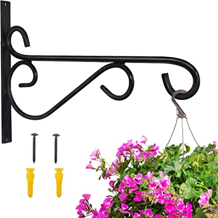 1pcs Hanging Baskets Brackets Hooks Outdoor Garden Plant Hanger Wall Bracket