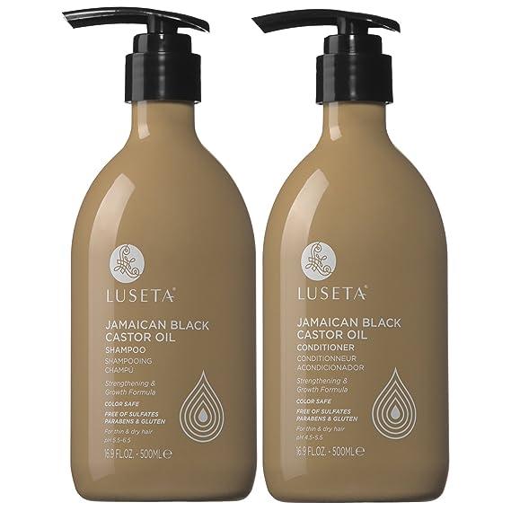 Luseta Castor Oil Shampoo and Conditioner Set
