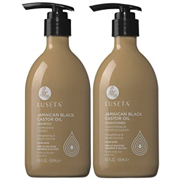Luseta Jamaican Black Castor Oil Shampoo and Conditioner Set for Fine and Dry Hair 2 16.9