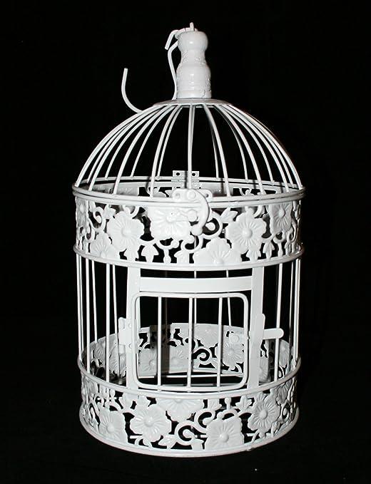 Boda jaula - decorativa pieza central - redondo con flores motivo ...