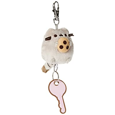 "GUND Pusheen with Cookie Plush Retractable Keychain, Gray, 2.5"": Toys & Games"