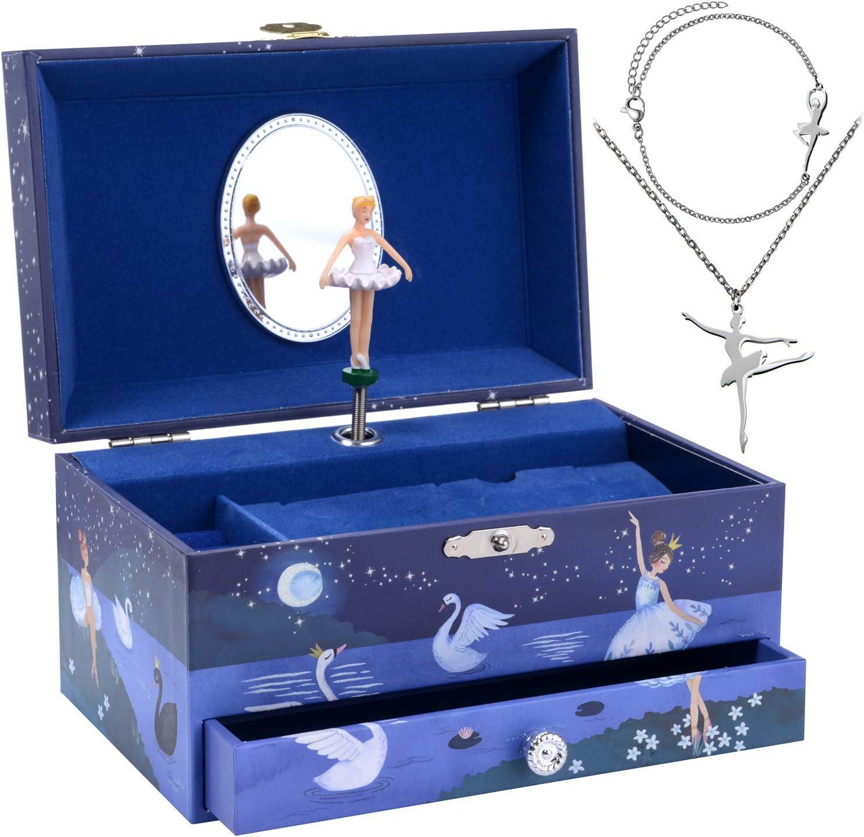 Jewelkeeper Ballerina Musical Jewelry Box for Girls Set - 3 Ballerina Gifts for Girls