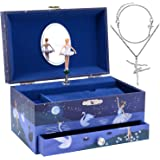 Jewelkeeper Ballerina Musical Jewelry Box for Girls Set - 3 Ballerina Gifts for Girls