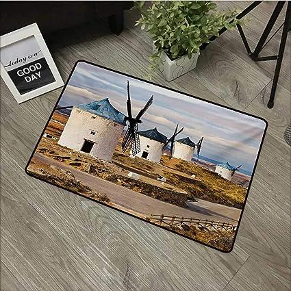Amazon.com: Windmill, Felpudo navideño con diseño de campo ...