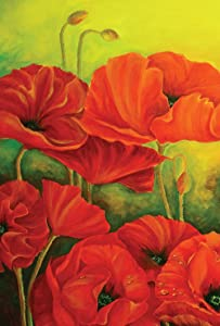 Toland Home Garden 109815 Poppies In Bloom 28 x 40 Inch Decorative, House Flag