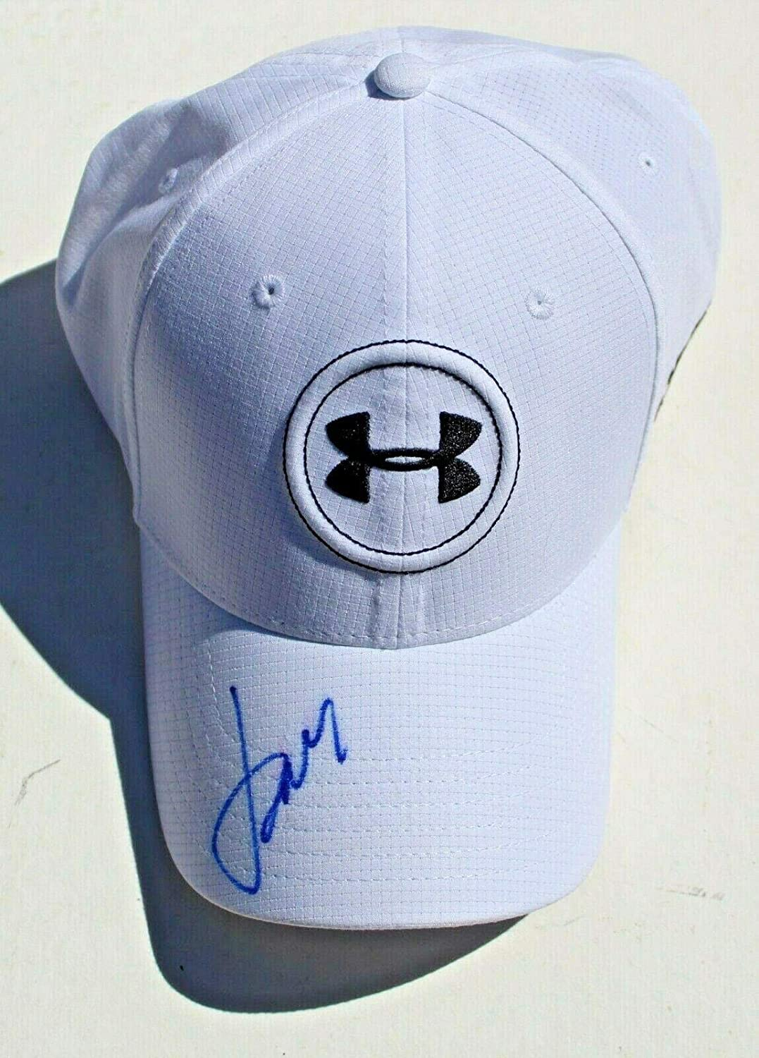 586876ef Jordan Spieth Signed Under Armour White Golf Fitted Hat w/COA USA Brand New  - Autographed Golf Equipment at Amazon's Sports Collectibles Store