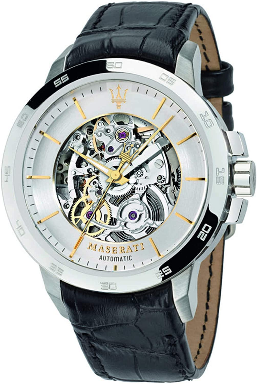 Maserati Reloj Analógico Automático para Hombre con Correa de Cuero – R8821119002