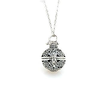 Amazon lava stone aromatherapy pendantlocket essential oil lava stone aromatherapy pendantlocket essential oil diffuser necklace antique silver rose aloadofball Images
