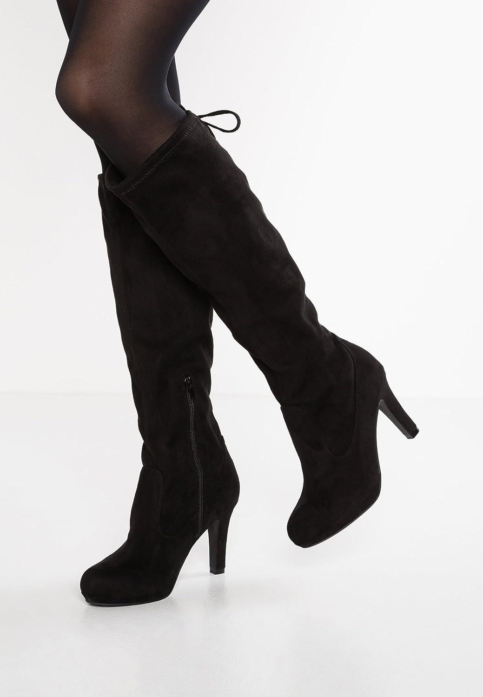 764ae316f9e638 Anna Field Boots High Heel Stiefel Damen in Schwarz - Langschaft  Damenstiefel mit Absatz