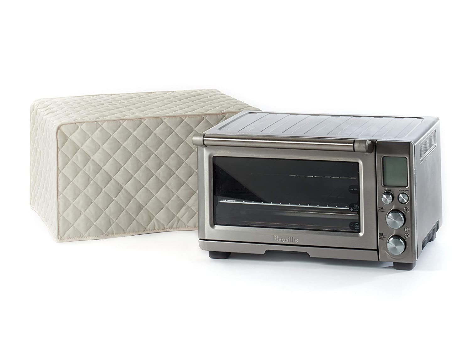 CoverMates – Toaster Oven Cover – 20W x 15D x 11H – Diamond Collection – 2 YR Warranty – Year Around Protection - Cream