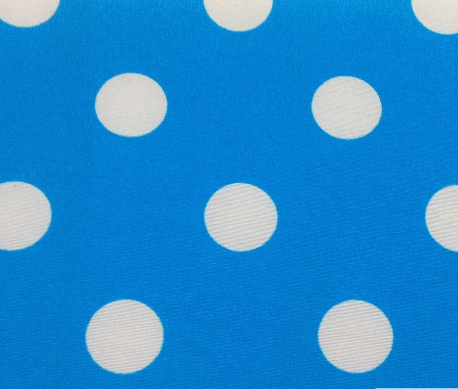 3/4th Inch Polka Dot Poly Cotton White Dot on Turquoise 60 Inch Fabric by the Yard (F.E.) by The Fabric Exchange   B00I55O4Z4