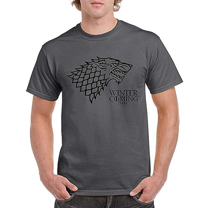 Winter is Coming Stark House Juego de Tronos - Camiseta Manga Corta: Amazon.es: Ropa y accesorios