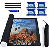 Puzzle Mat Roll Up 2000 Pieces, Thicker Puzzle Roll Up Mat, Jigsaw Puzzle Mat Roll Up 1000 1500 Pieces, Store and Transport J