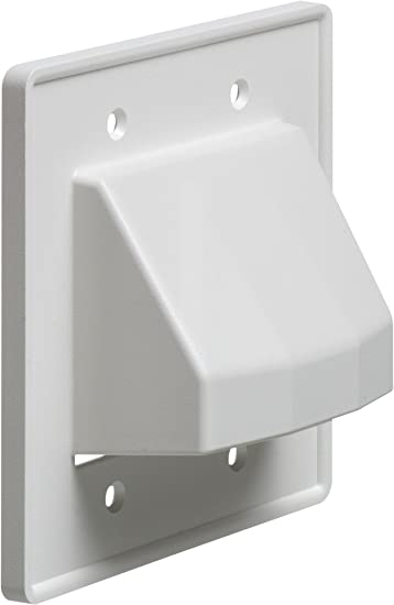 2-Gang White 10-Pack Arlington CE2-10 Recessed Low Voltage Cable Plate