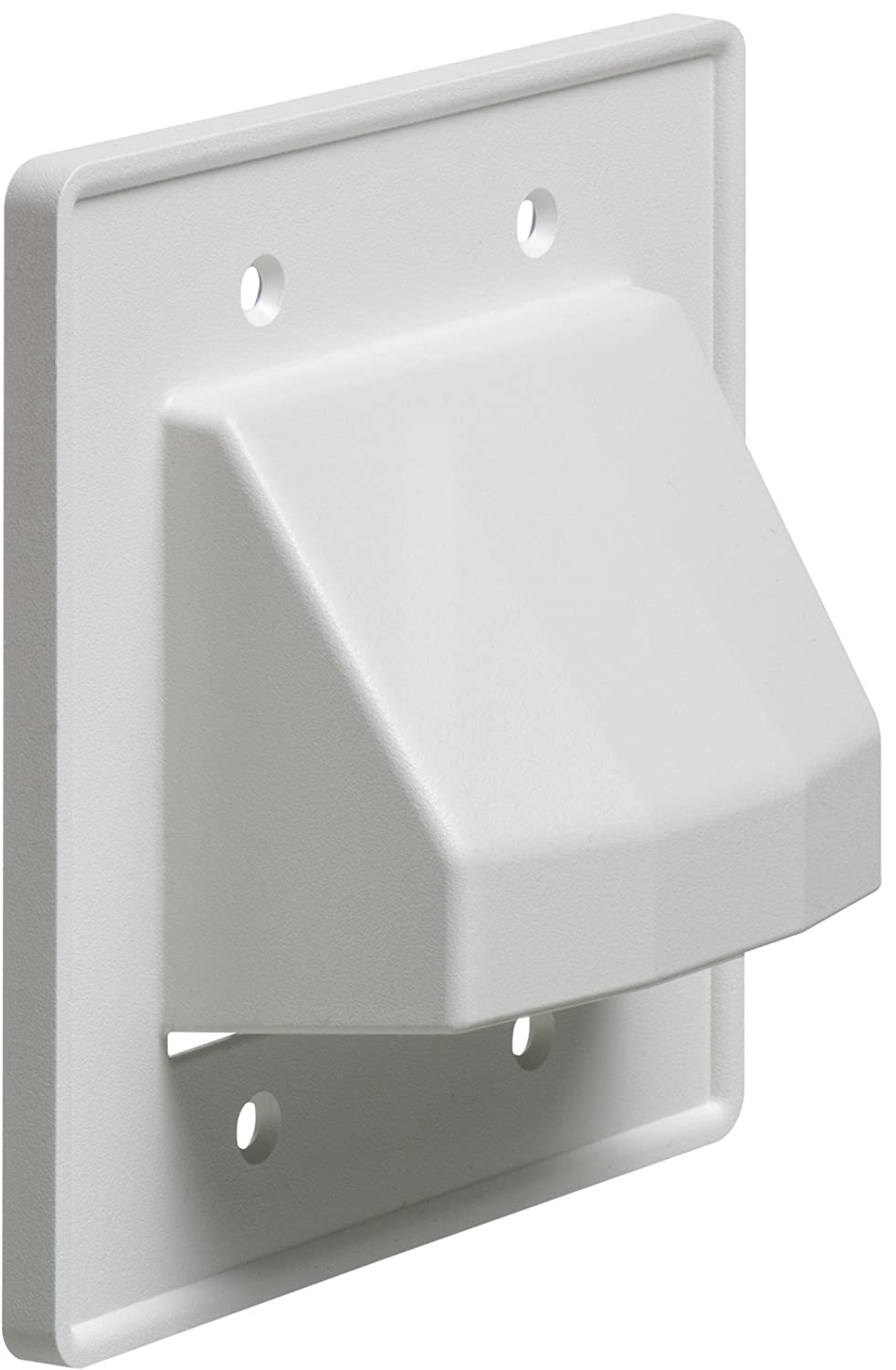 Arlington Ce1 10 Recessed Low Voltage Cable Plate 1 Wiring Contractors Gang White Pack Home Improvement