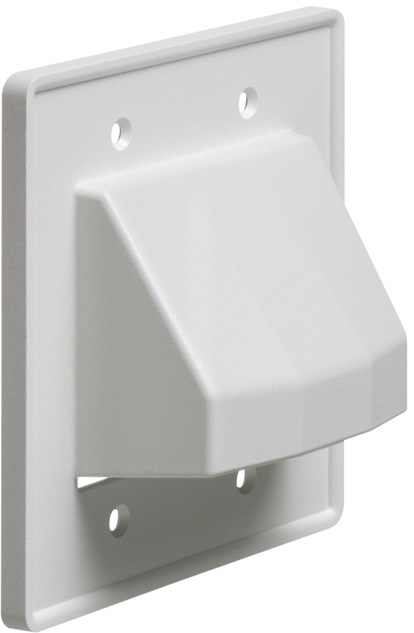 Arlington CE2-10 Recessed Low Voltage Cable Plate, 2-Gang, White, 10-Pack by Arlington Industries (Image #1)