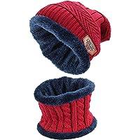 Ndier Cappello Donna Uomo Berretto Invernale Cappelli e Sciarpa Set Unisex Beanie Cappello Sciarpa in Maglia