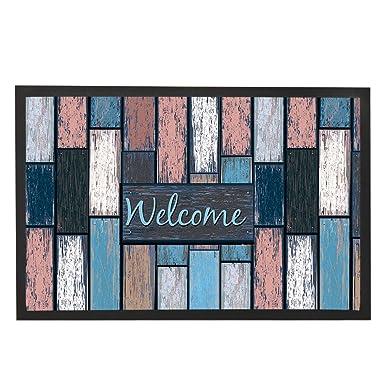 Merveilleux Modern Rustic Welcome Door Mats Wood Home Floor Mat Indoor Outdoor Bath Mat  House Door Rug