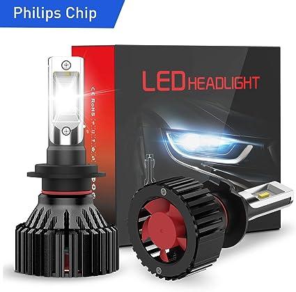 WE-WIN 2pcs Car Headlight Fog Lamp 2pcs 6000K 55W Waterproof White H7 LED Bulb