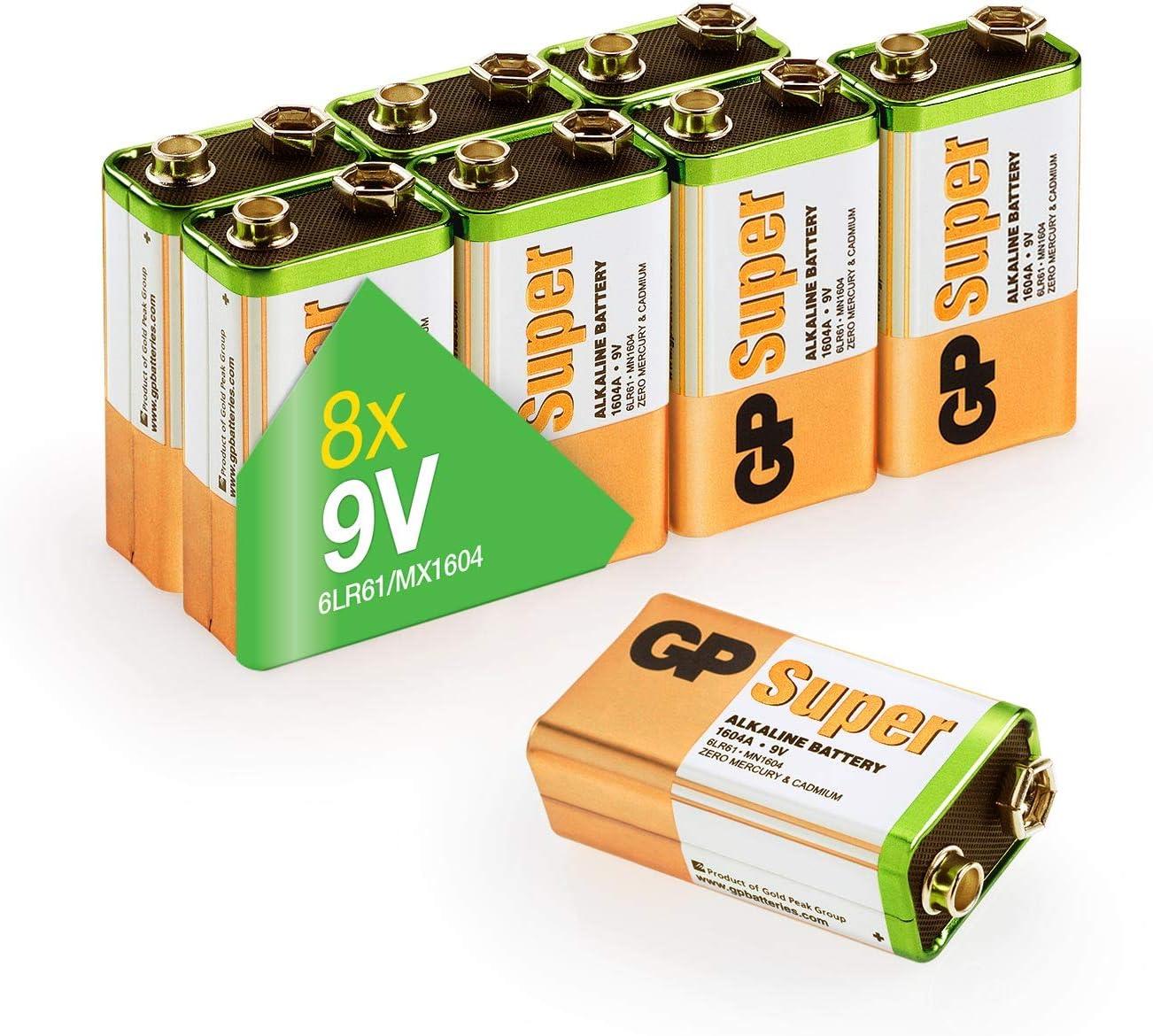 Gp 9v Block Batterien 9 Volt Block Super Alkaline 9v Elektronik