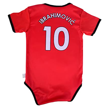 low priced 8f240 e0d25 Zlatan Ibrahimovic #10 Baby Soccer Jersey Infant Toddler Onesie Romper  Premium Quality